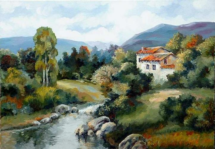 peisaj cu casa'06